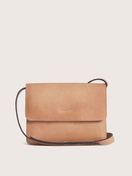 Женская сумка кросс-боди из натуральной кожи бежевая, арт.BG02-BEG