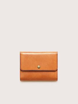 Большой кожаный кошелек CASANIE, цвет рыжий