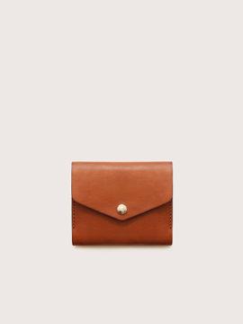 Кожаный мини-кошелек CASANIE, цвет коньяк