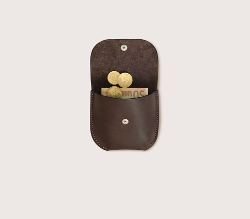 Монетница коричневая CASANIE в открытом виде