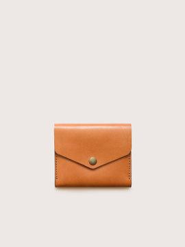 Кожаный рыжий мини-кошелек CASANIE