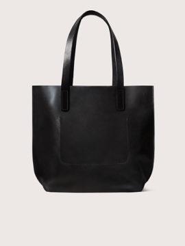 Черный кожаный шоппер, арт.BG05-BL