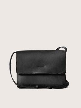 Женская сумка кросс-боди кожаная черная, арт. BG02-BL